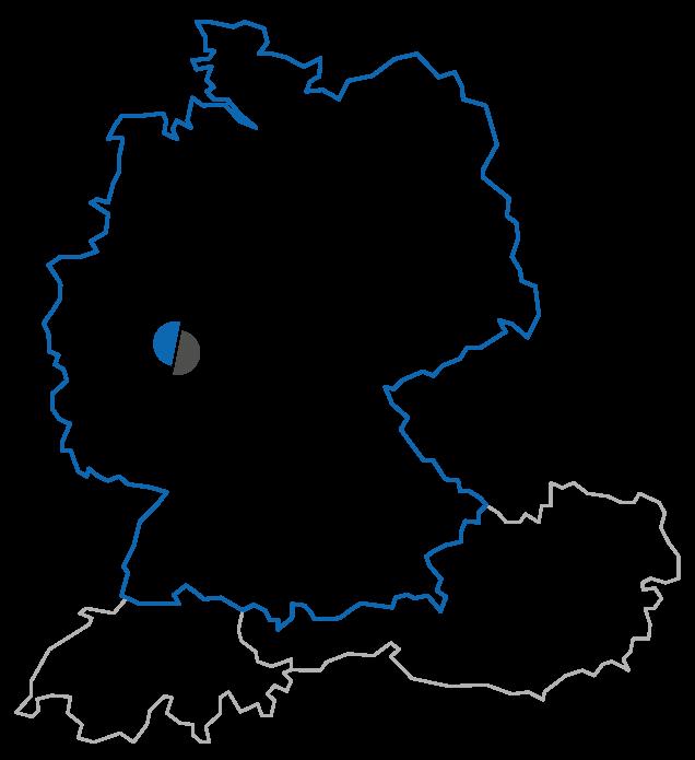 Sitz der CenMax GmbH in Deutschland mit den Nachbarländern Schweiz und Österreich.